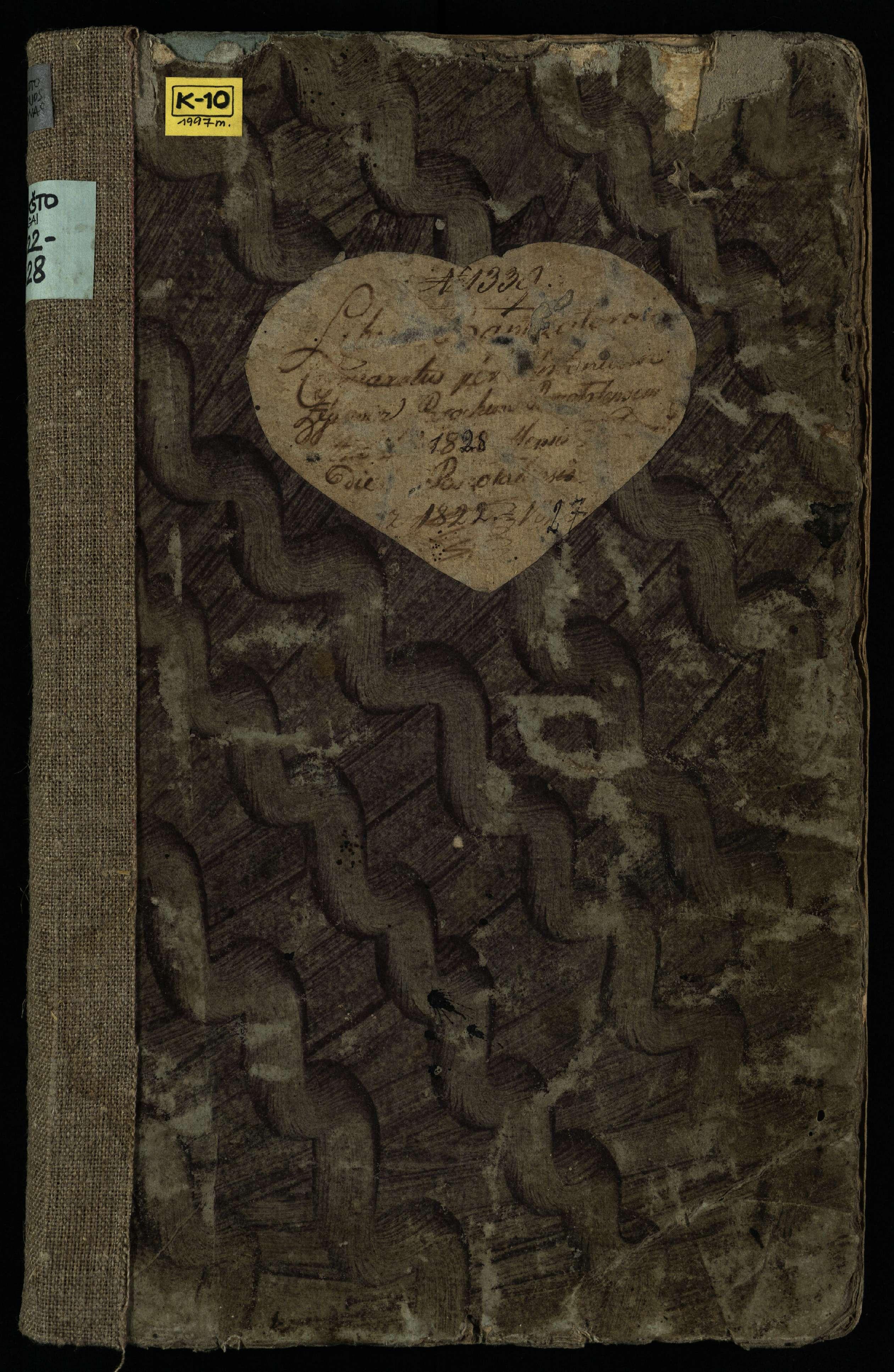 Pušaloto Romos katalikų parapijos bažnyčios 1822–1828 metų krikšto metrikų knyga