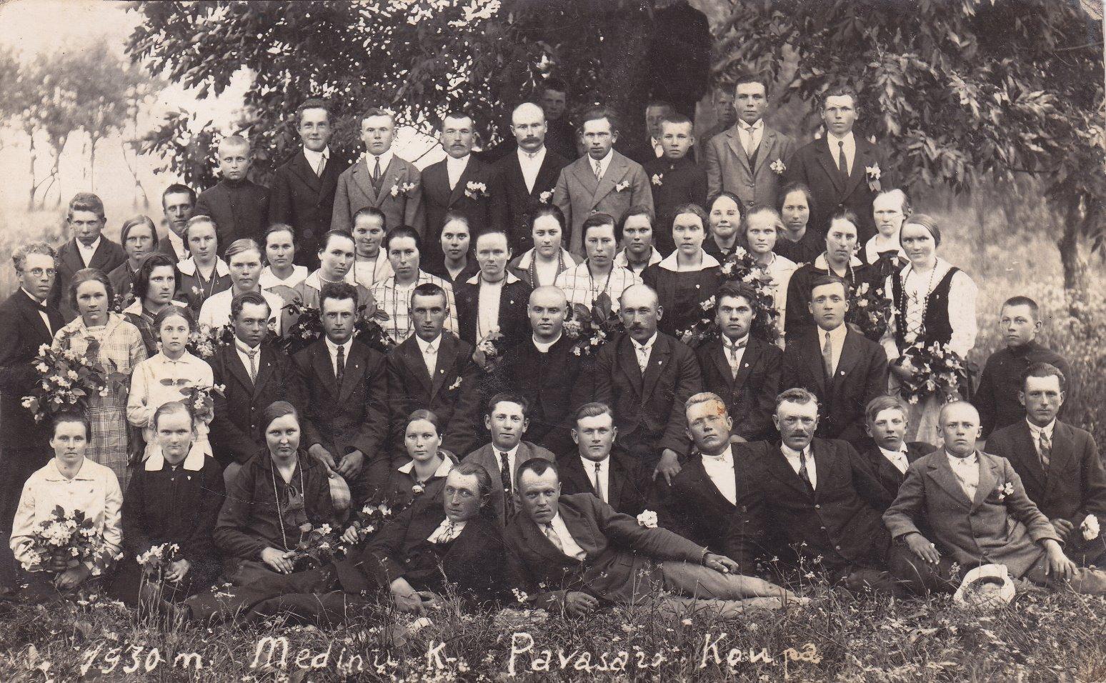 Medinių kaimo pavasarininkų kuopa. 1930 m.