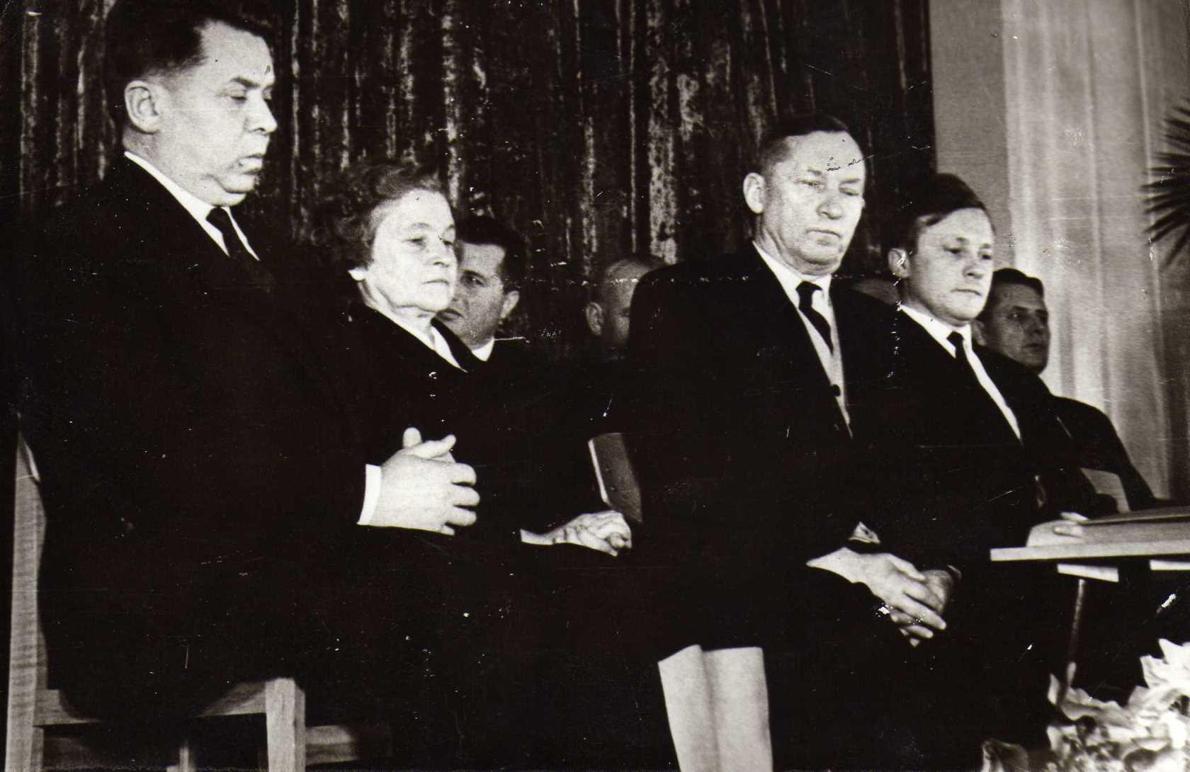 Agronomo Petro Vasinausko 60-metis. 1966 m. Agronomas sėdi trečias iš kairės