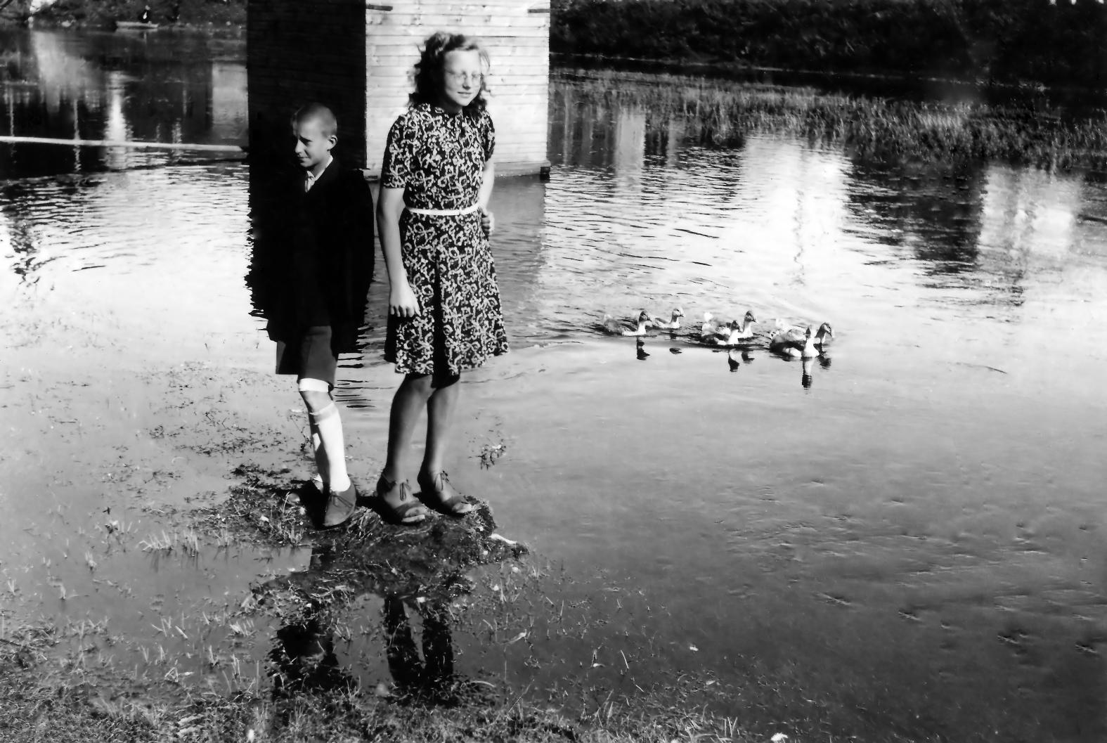 Nusekusi Lėvens upė 1943-ųjų metų vasarą