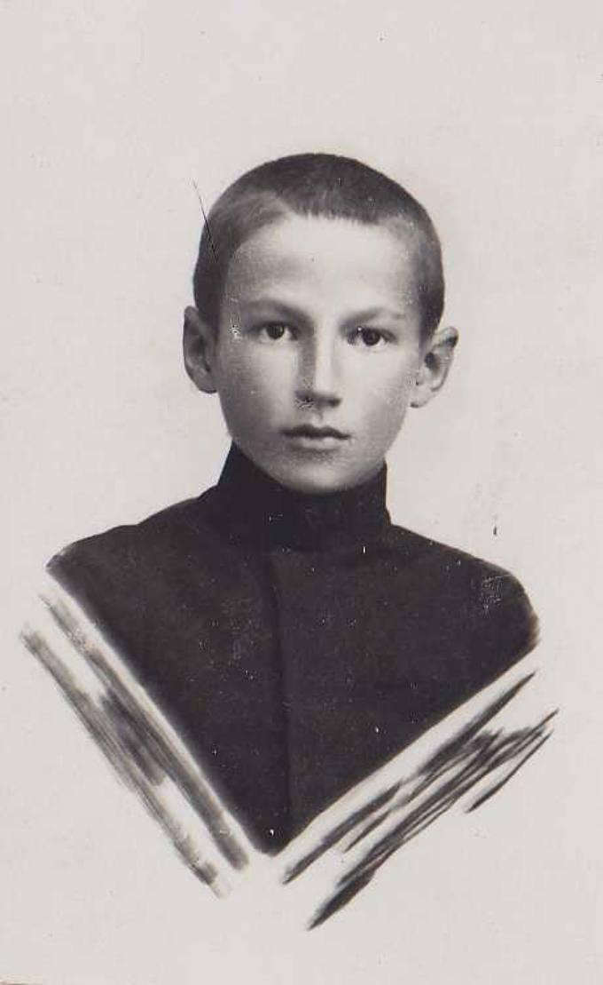 Jonas Vytautas Nistelis vaikystės metais