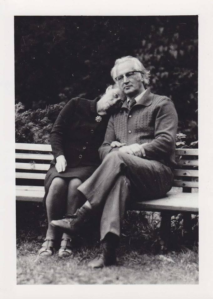 Jonas Vytautas Nistelis su žmona Apolonija Ąžuolpamūšėje