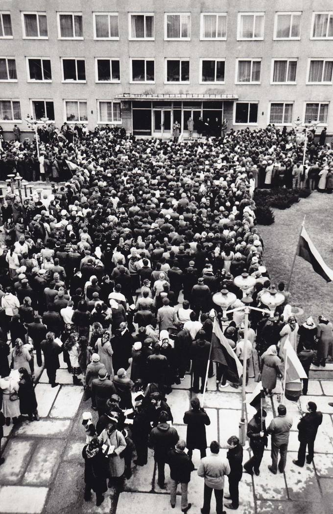 Rinkimų į SSRS Aukščiausiąją Tarybą mitingas Pasvalyje Vytauto Didžiojo aikštėje