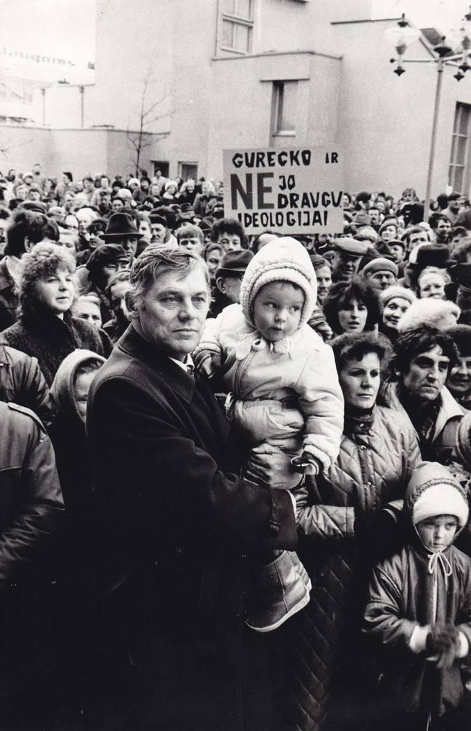 Kandidatas į SSRS Aukščiausiąją Tarybą Virmantas Velikonis Pasvalyje