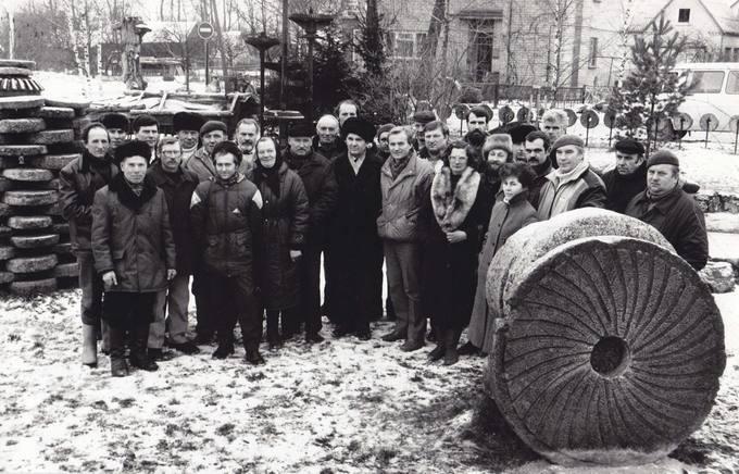 Pirmieji rajono ūkininkai Antano Stapulionio sodyboje