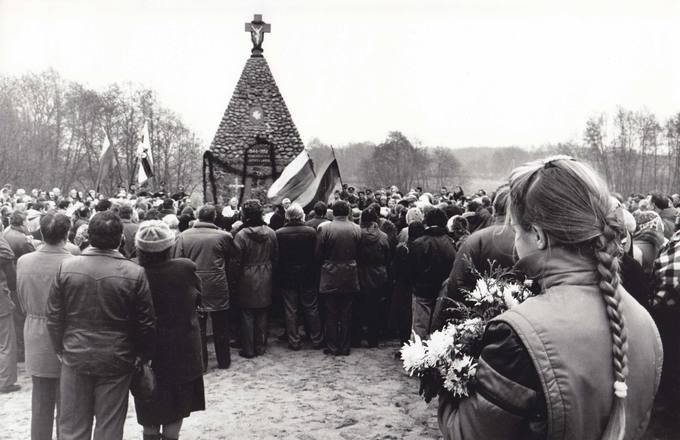 Žuvusiems partizanams skirto Monumento atidengimas Gerkiškėse, Biržų rajone