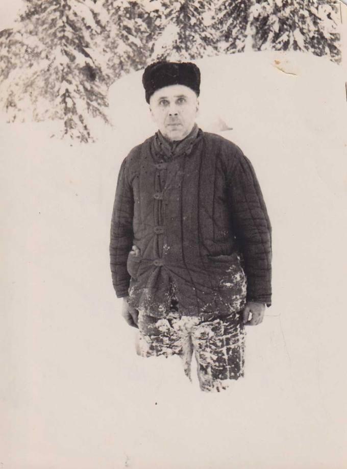 Kostas Čaplinskas taigos sniegynuose
