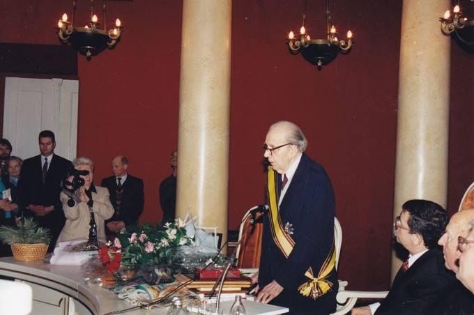 Kalba jubiliatas diplomatas dr. Stasys Antanas Bačkis