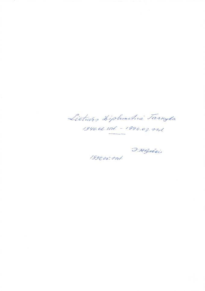 Lietuvos diplomatinė tarnyba