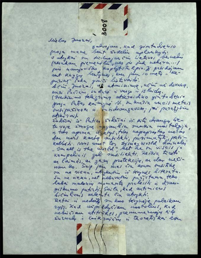 Bernardo Brazdžionio 1977 m. kovo 17 d. laiškas Juozui Poviloniui