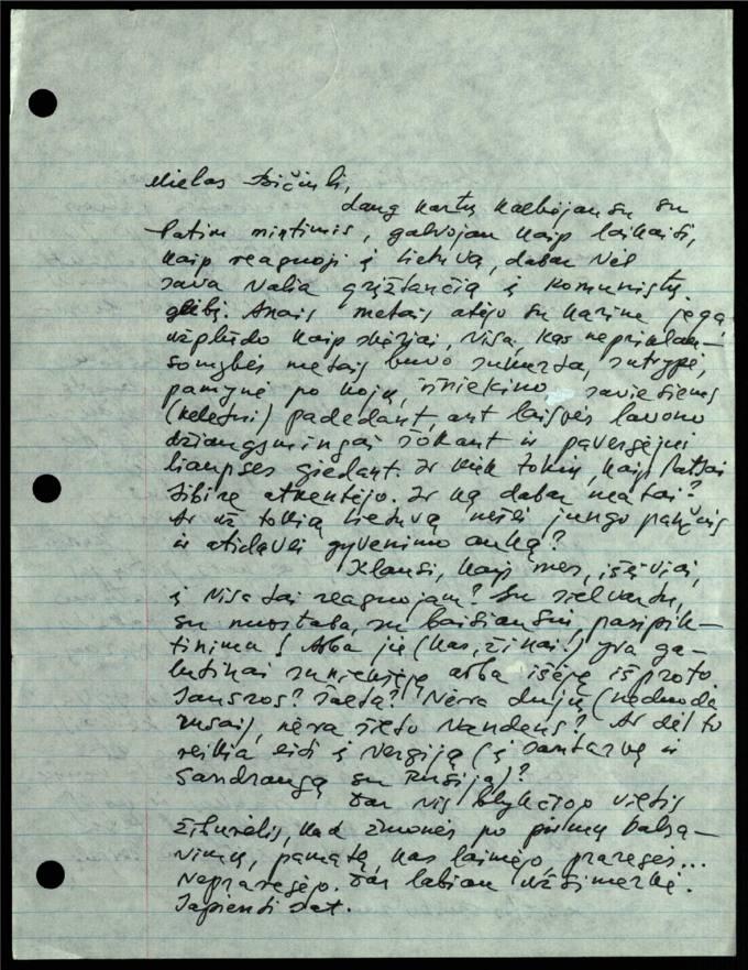 Bernardo Brazdžionio 1993 m. sausio 6 d. laiškas Juozui Poviloniui