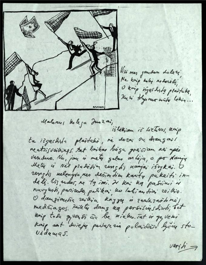 Bernardo Brazdžionio 1994 m. lapkričio 14 d. laiškas Juozui Povilioniui