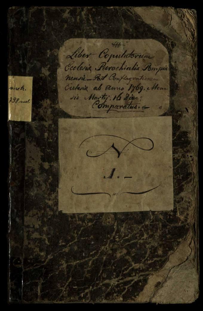 Pumpėnų Romos katalikų parapijos bažnyčios 1769–1798 metų jungtuvių metrikų knyga