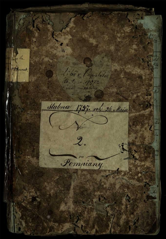 Pumpėnų Romos katalikų parapijos bažnyčios 1797–1827 metų jungtuvių metrikų knyga