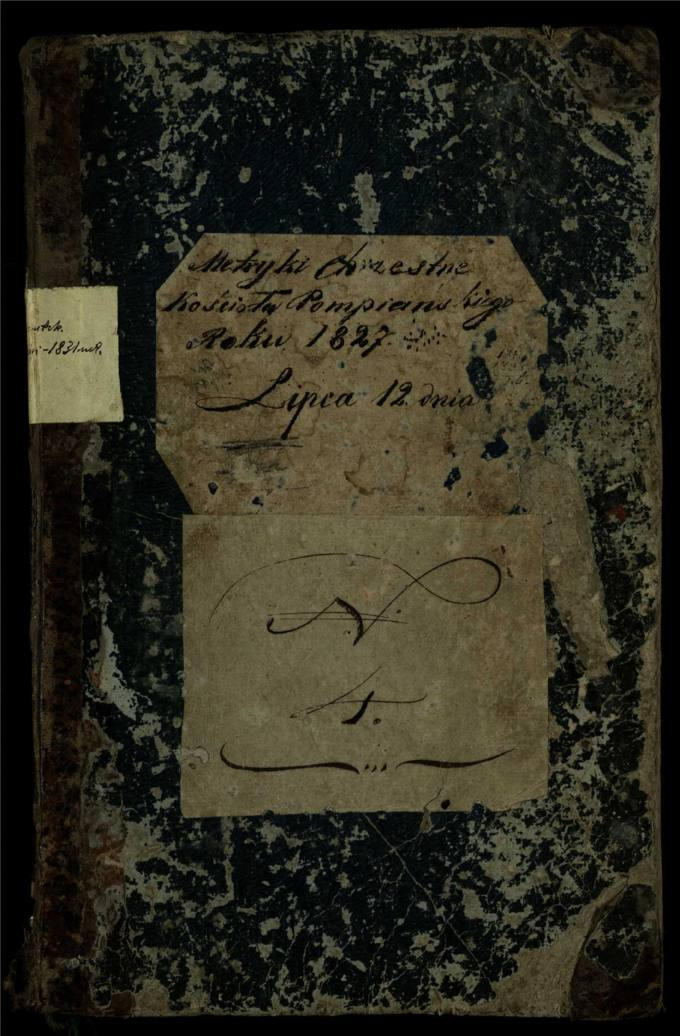 Pumpėnų Romos katalikų parapijos bažnyčios 1827–1831 metų krikšto metrikų knyga