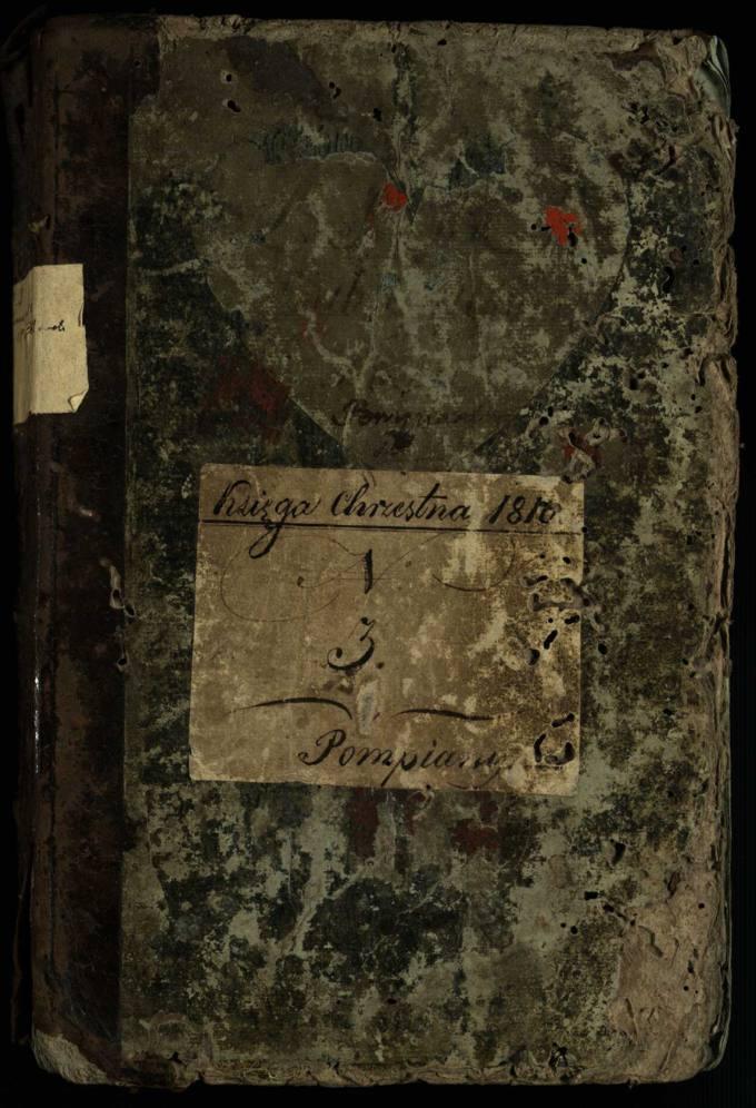 Pumpėnų Romos katalikų parapijos bažnyčios 1810–1832 metų krikšto metrikų knyga