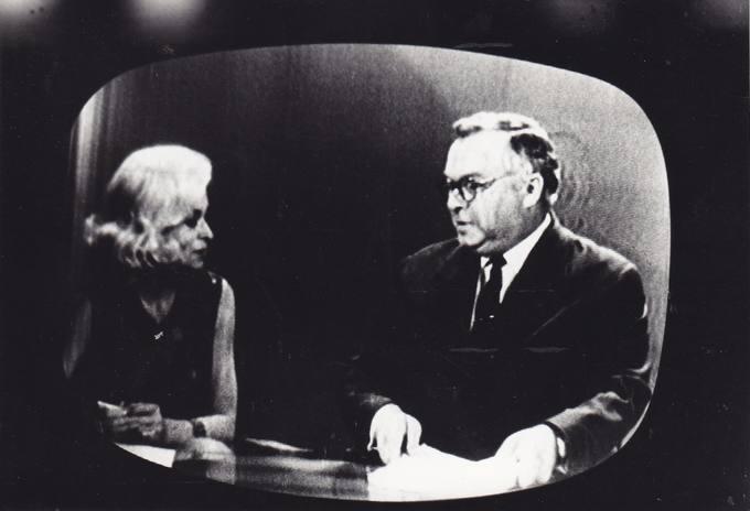 Eugenijus Matuzevičius su televizijos laidos redaktore Nijole Baužyte