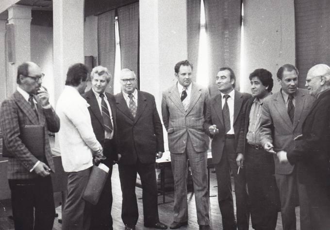 Eugenijus Matuzevičius su lietuvių poezijos vertėjais