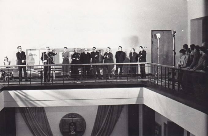 Eugenijaus Matuzevičiaus jubiliejinės parodos atidarymas Respublikinėje bibliotekoje Vilniuje