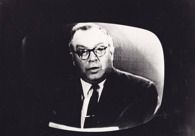 Eugenijus Matuzevičius televizoriaus ekrane
