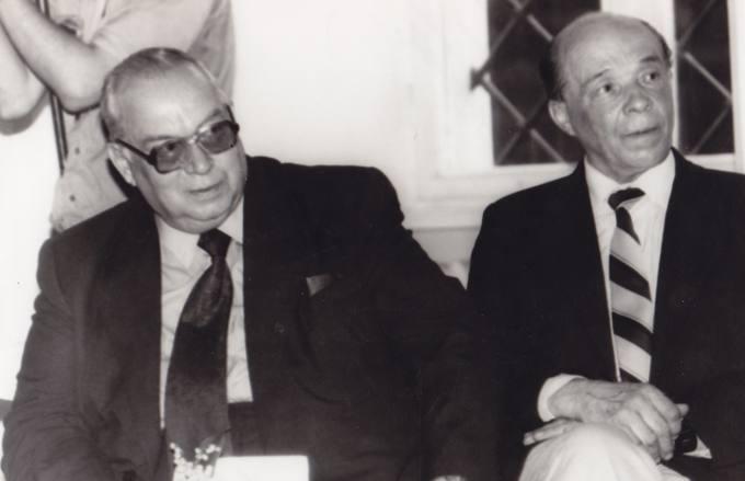 Broliai poetai Eugenijus ir Leonardas Matuzevičiai Biržuose, Radvilų pilyje