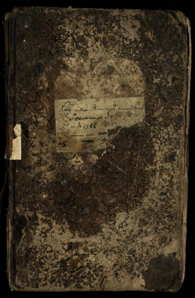 Pasvalio Romos katalikų parapijos bažnyčios 1772–1786 metų krikšto metrikų knyga