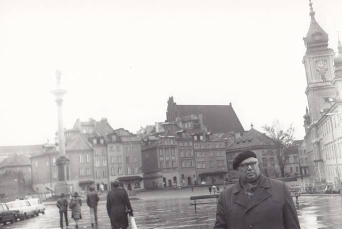 Eugenijus Matuzevičius Varšuvos senamiestyje