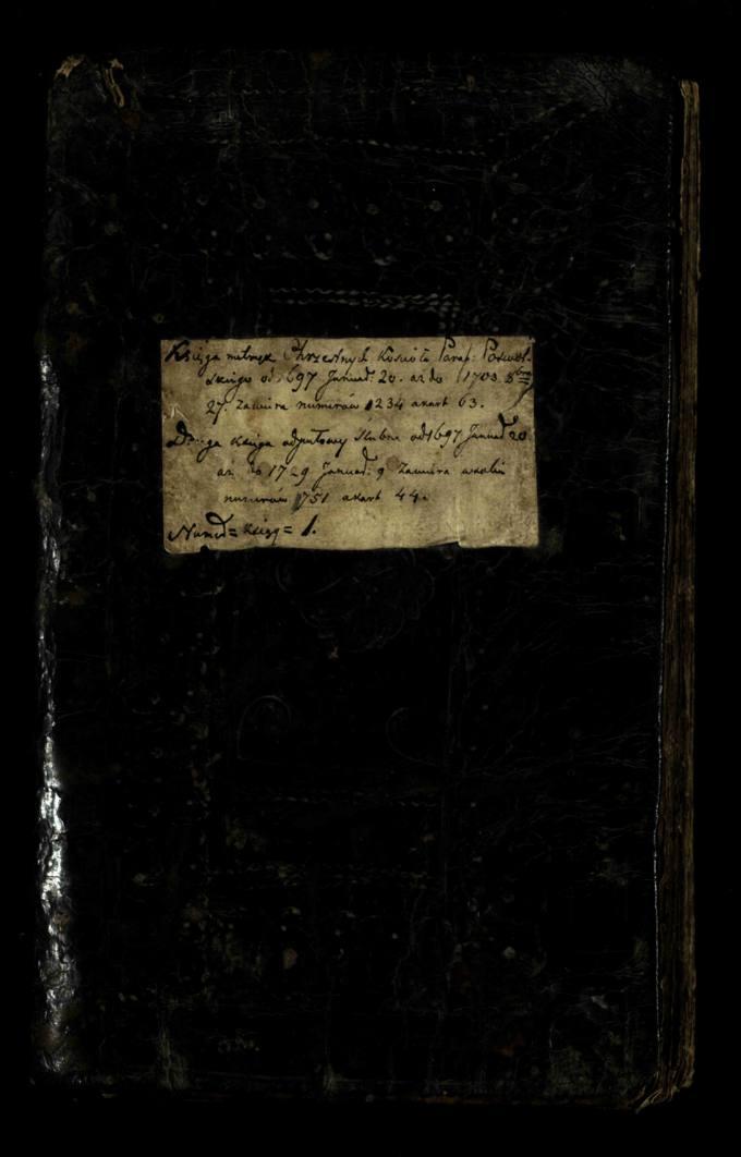Seniausioji Pasvalio Šv. Jono Krikštytojo bažnyčios krikšto ir jungtuvių metrikų knyga, pradėta rašyti 1697 metais