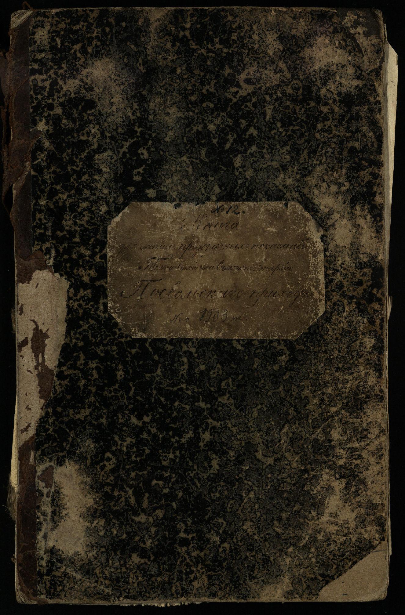 Pasvalio Romos katalikų parapijos bažnyčios 1903–1917 metų priešjungtuvinės apklausos knyga