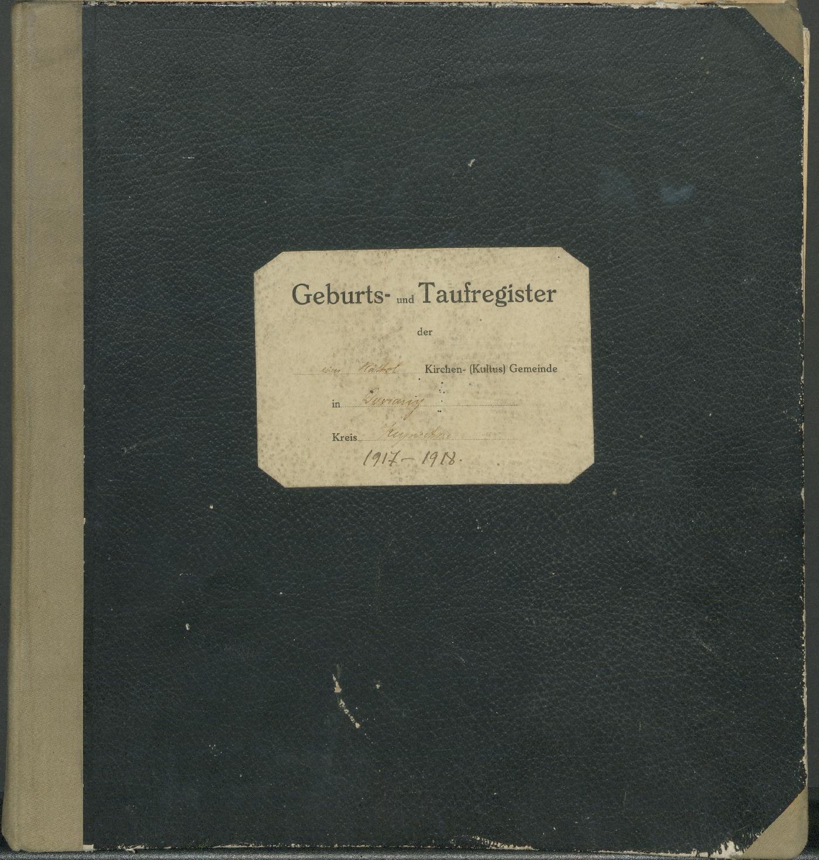 Daujėnų Romos katalikų parapijos bažnyčios 1917–1918 metų krikšto metrikų knyga