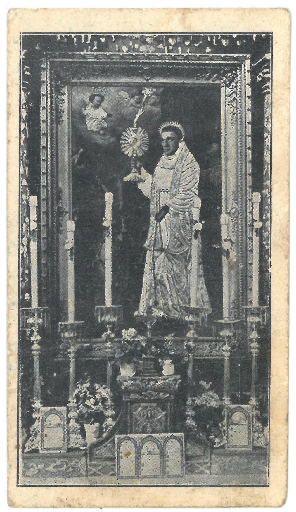 Religinis paveikslėlis. Telšių vyskupijos III eucharistinio kongreso atsiminimui. Priekinėje pusėje išspausdintas Kretingos Šv. Antano altoriaus paveikslo fotografinis vaizdas, o kitoje pusėje – padėkos tekstas