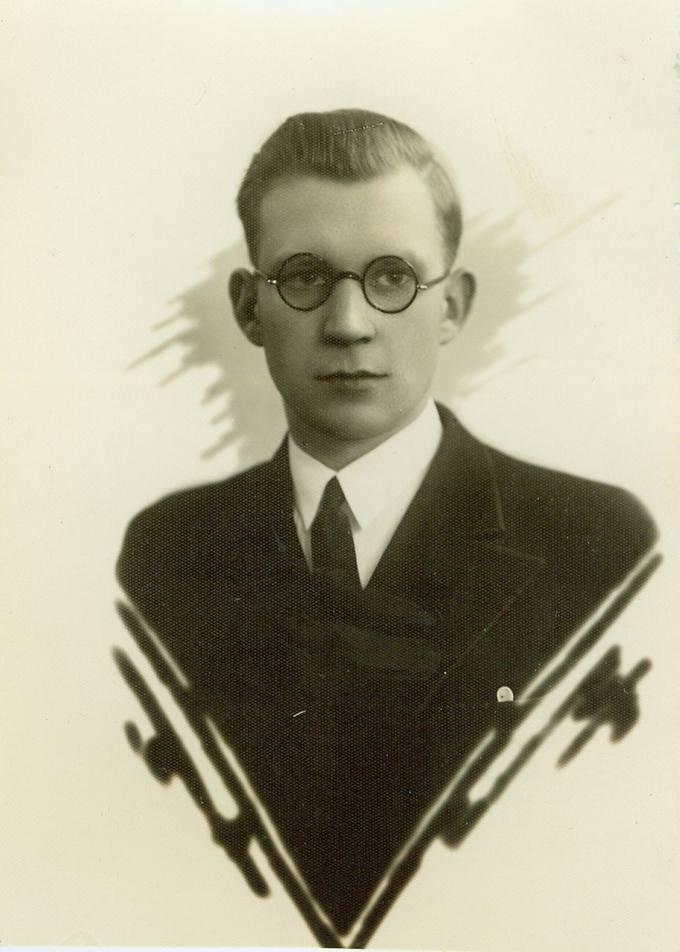 Stasys Antanas Bačkis jaunystėje