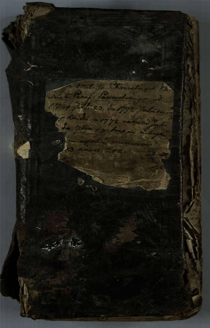 Pasvalio Šv. Jono Krikštytojo bažnyčios 1749–1772 metų krikšto metrikų knyga