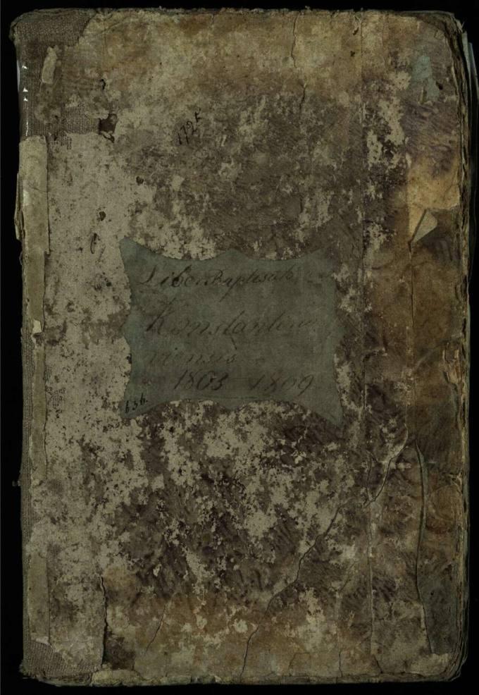 Vaškų Šv. Juozapo bažnyčios 1803–1809 metų krikšto metrikų knyga