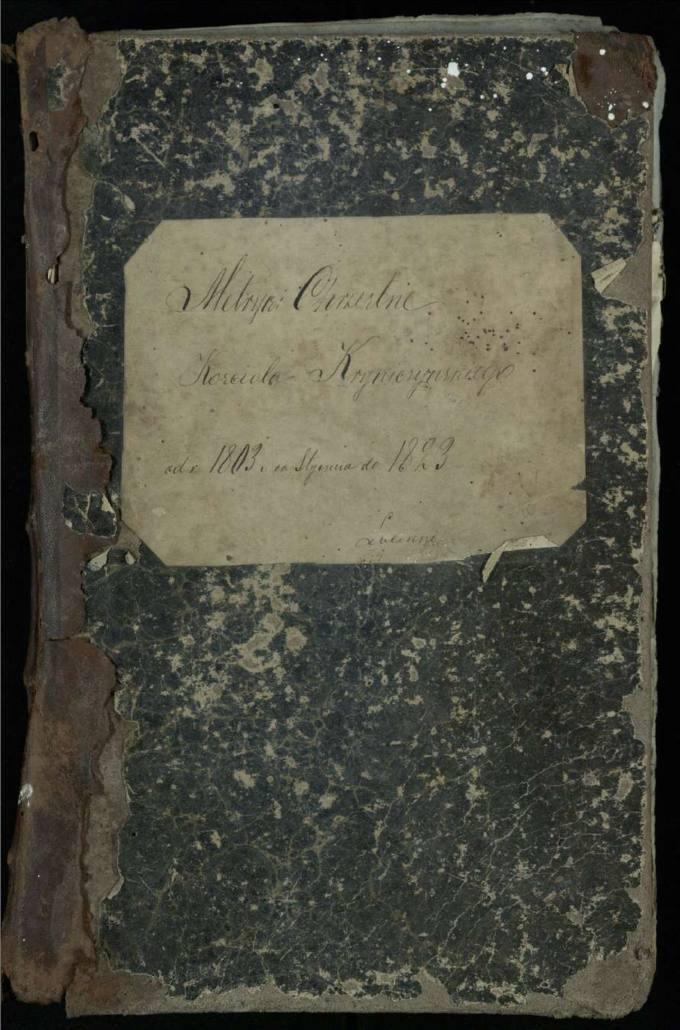 Krinčino Romos katalikų parapijos bažnyčios 1803–1823 metų krikšto metrikų knyga