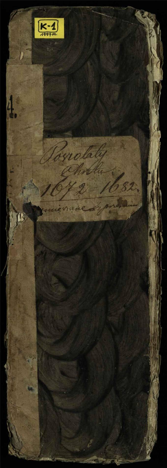 Pušaloto Romos katalikų parapijos bažnyčios 1672–1682 metų krikšto metrikų knyga
