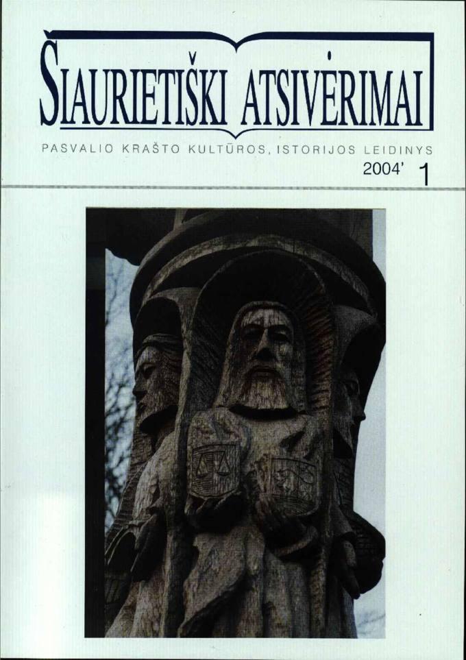 Šiaurietiški atsivėrimai : Pasvalio krašto kultūros, istorijos leidinys 2004, nr. 1 (16)