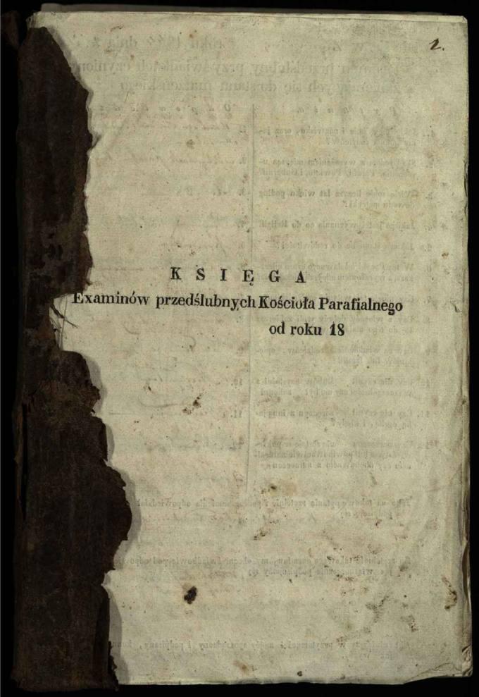 Krinčino Romos katalikų parapijos bažnyčios 1844–1853 metų priešjungtuvinės apklausos knyga