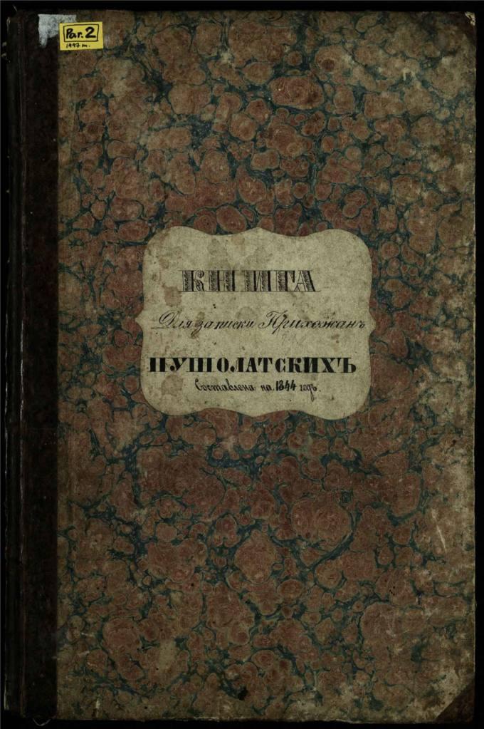Pušaloto Romos katalikų bažnyčios 1844 metų parapijiečių sąrašas