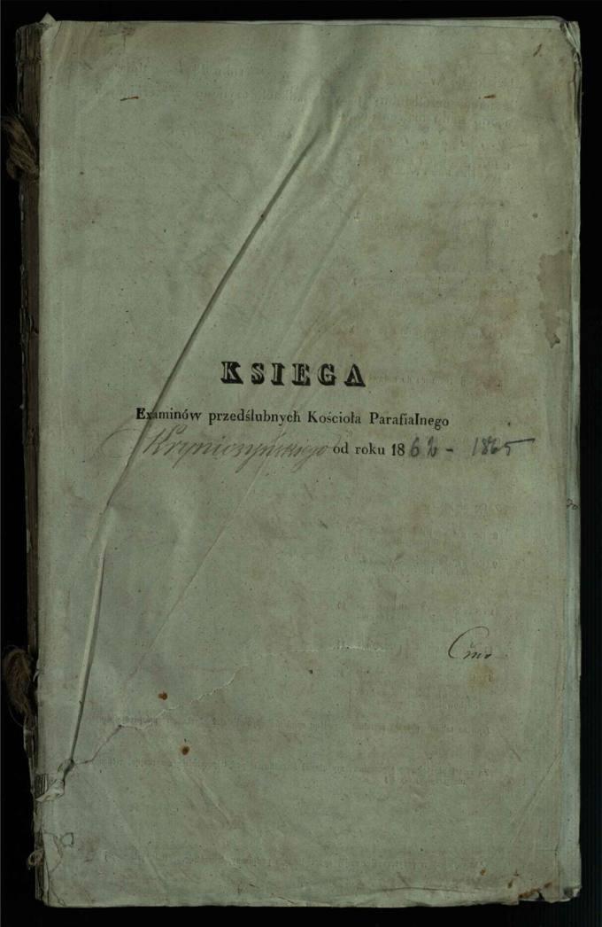 Krinčino Romos katalikų parapijos bažnyčios 1862–1865 metų priešjungtuvinės apklausos knyga
