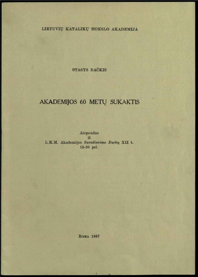 Akademijos 60 metų sukaktis