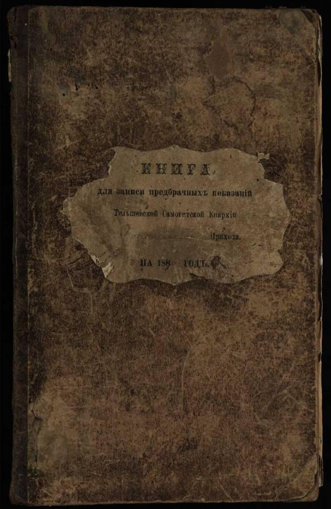 Krinčino Romos katalikų parapijos bažnyčios 1890–1900 metų priešjungtuvinės apklausos knyga