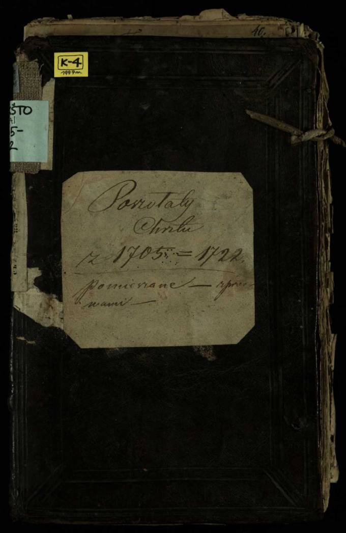 Pušaloto Romos katalikų parapijos bažnyčios 1705–1722 metų krikšto metrikų knyga