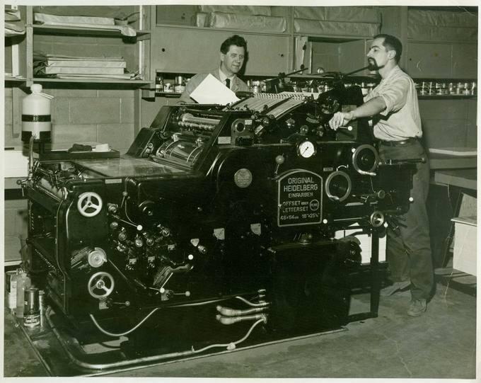 """Česlovas Senkevičius lietuviškoje """"Time Press Ltd."""" spaustuvėje Toronte 1967 metų balandžio 26 dieną"""