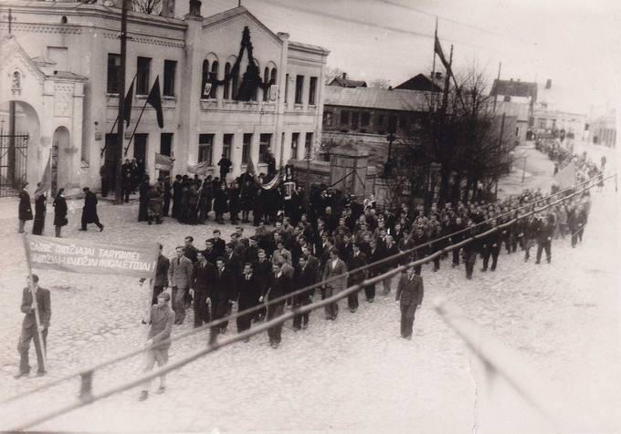 Sovietinė demonstracija Vytauto Didžiojo aikštėje