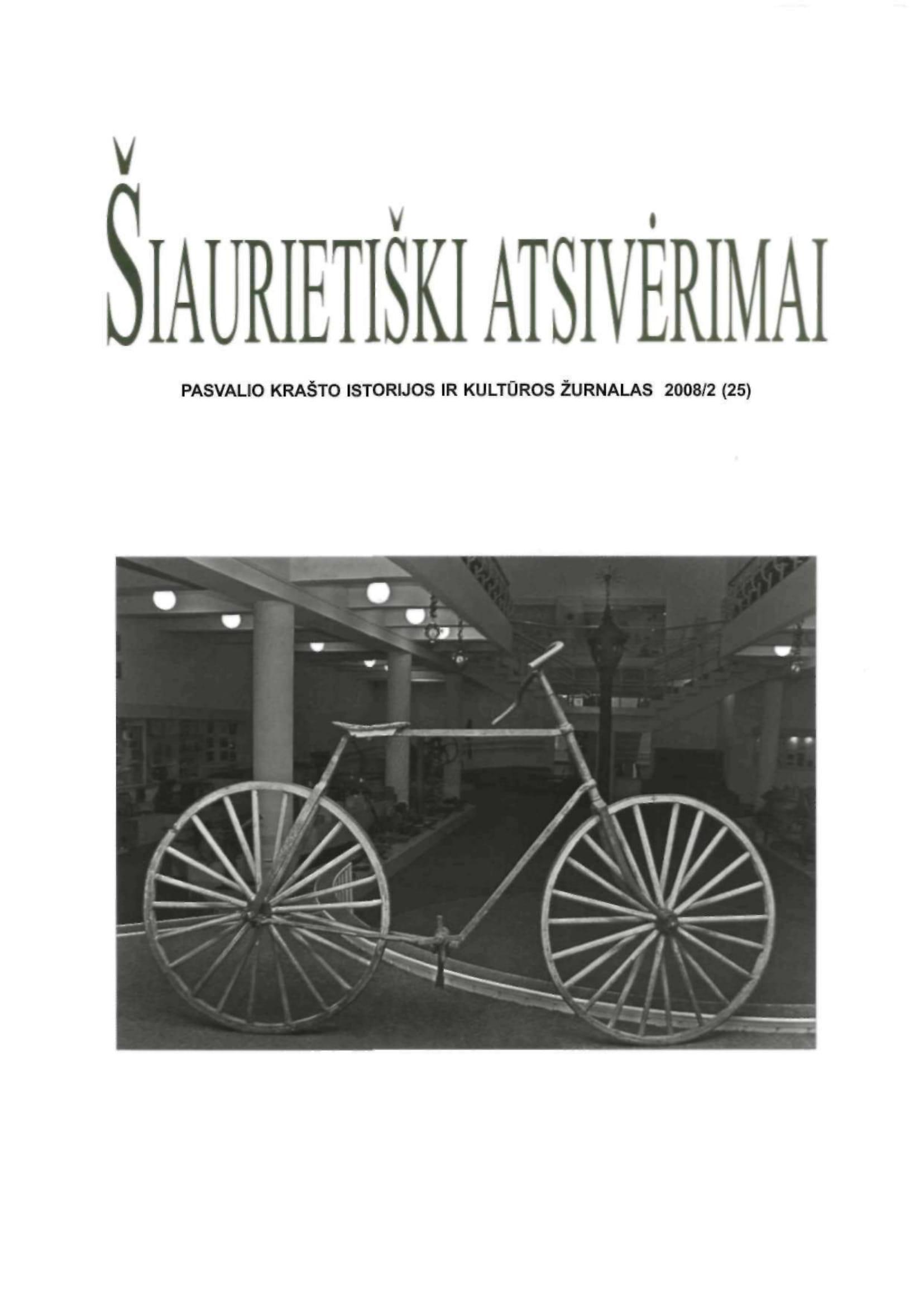 Šiaurietiški atsivėrimai : Pasvalio krašto istorijos ir kultūros žurnalas 2008, nr. 2 (25)