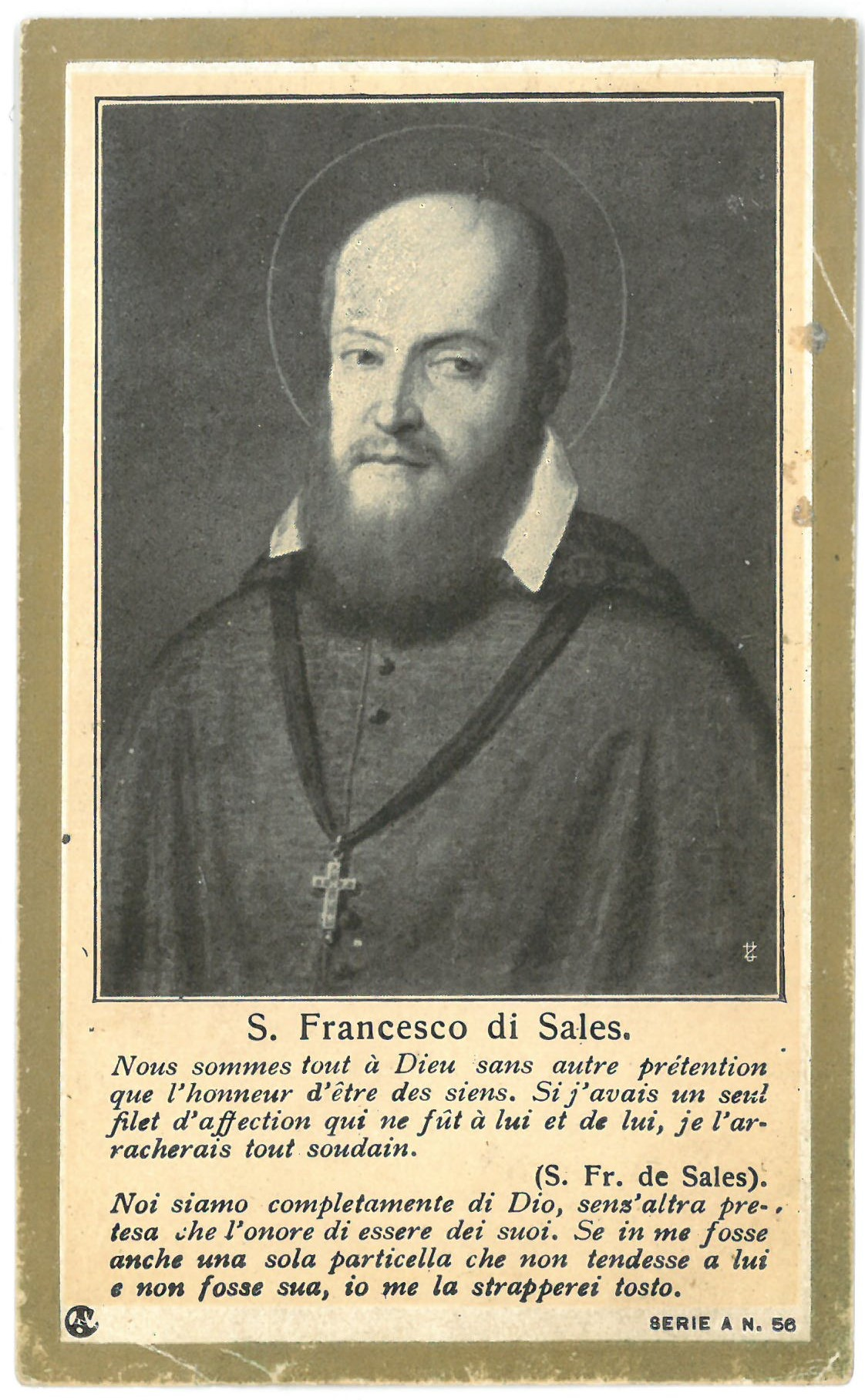 "Religinis paveikslėlis. ""S. Francesco di Sales"""