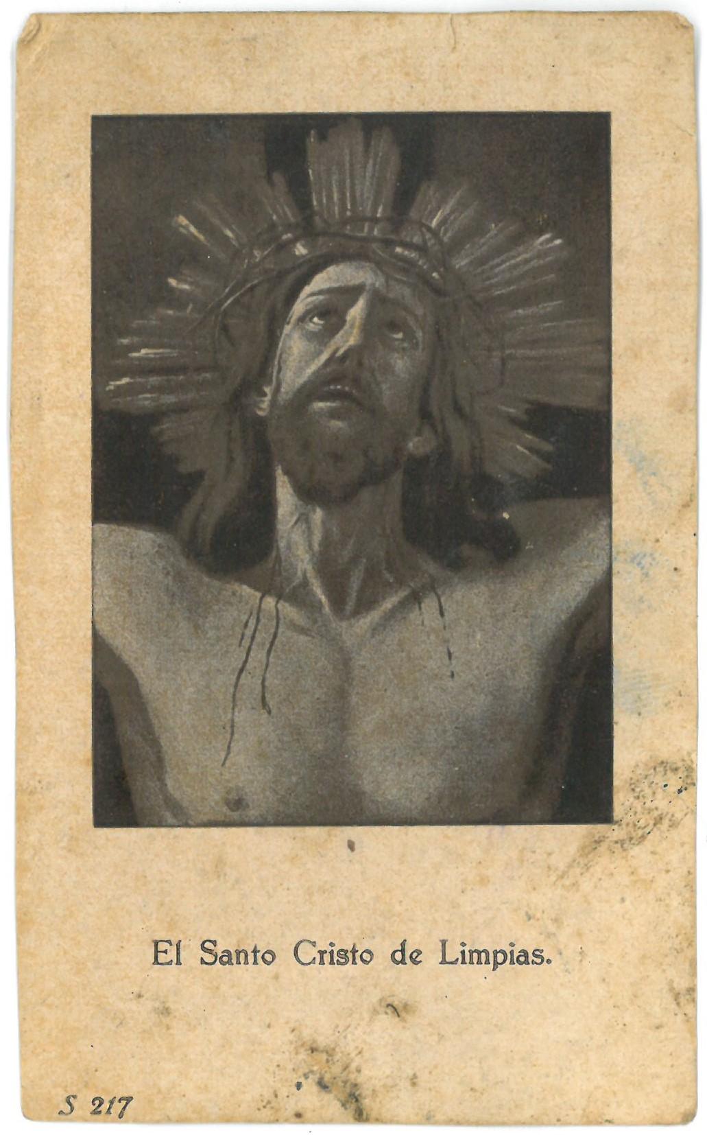 "Religinis paveikslėlis. ""El Santo Cristo de Limpias"""