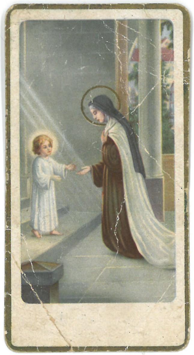 Religinis paveikslėlis. Švč. Mergelė Marija ir Kūdikis