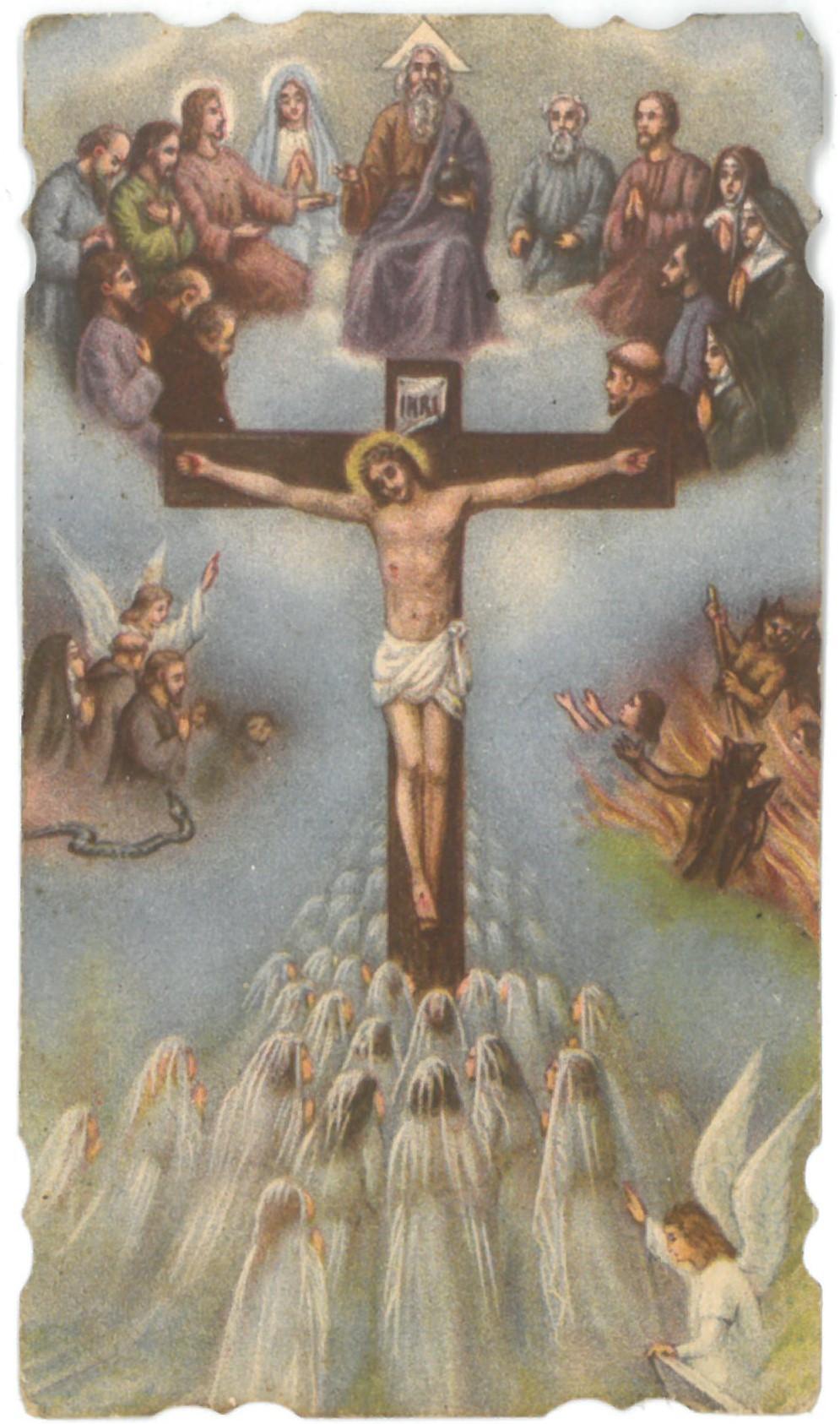 Religinis paveikslėlis. Nukryžiuotasis